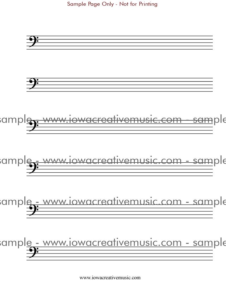 Manuscript Paper Free Printable Free Manuscript Paper Bass
