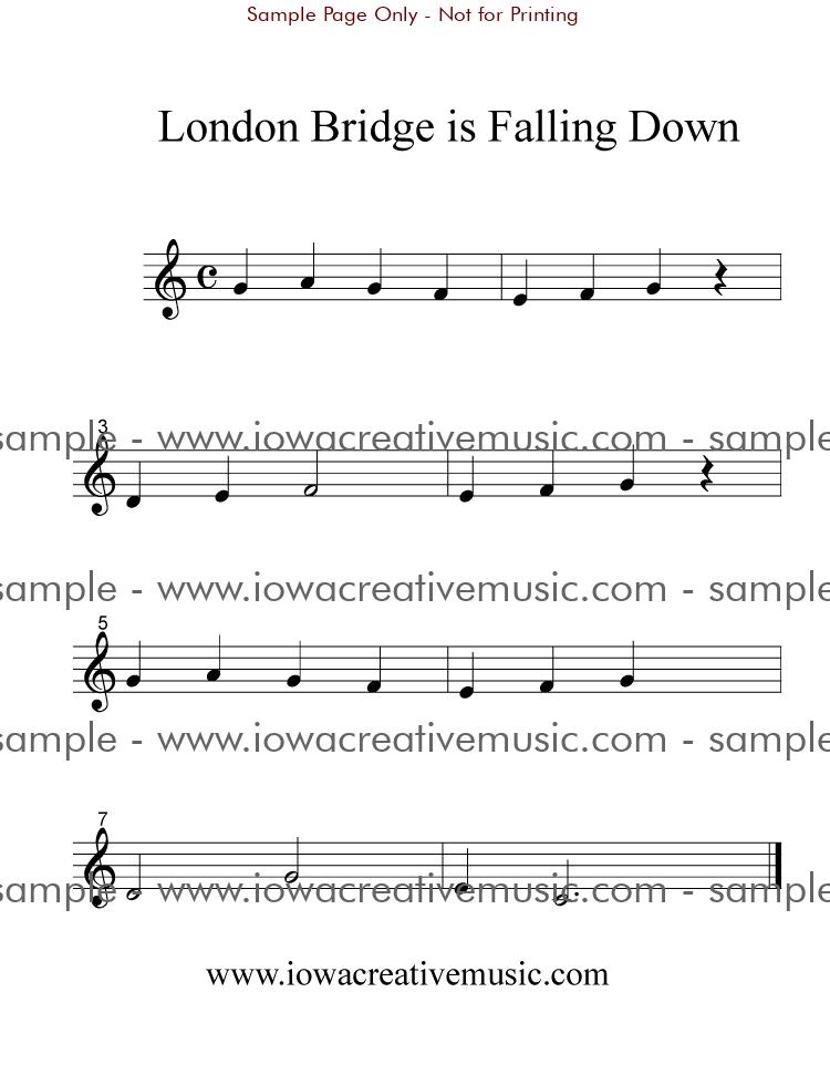 Free Clarinet Sheet Music - London Bridge Is Falling Down