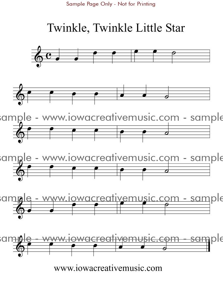 Free Guitar Sheet Music - Twinkle, Twinkle Little Star